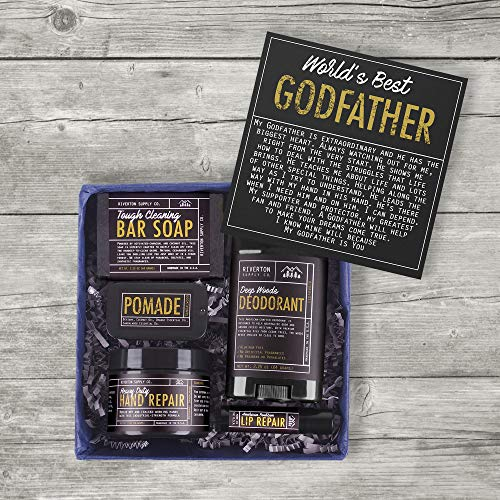 Body Care Gift Box for Godfather with Heartfelt Card for Birthday, Holidays & More
