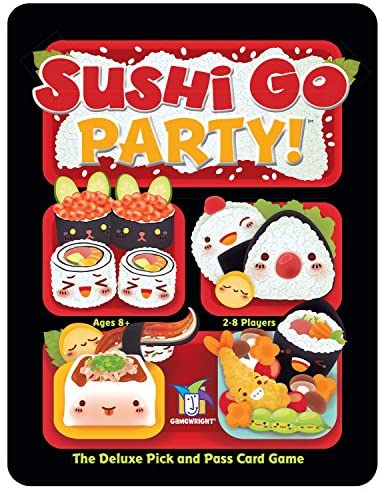 Gamewright Sushi Go Party! – The Deluxe Pick & Pass Card Game, Multicolored