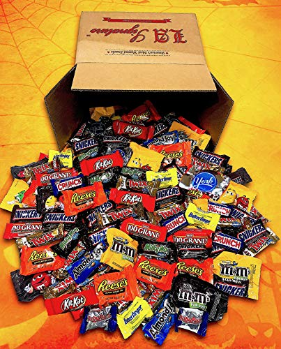 Candy & Chocolate HERSHEY'S Nestle M&M'S Variety Assortment Mix Bulk GIFT BOX Net Weight 5.85LBS (93.6 oz 160 Count ALL Chocolate)