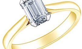 1/2 Carat Radiant Shape White Natural Diamond Solitaire Engagement Ring In 14k Solid Gold (0.5 Cttw)