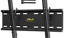 AM alphamount Tilting TV Wall Mount Bracket for 23-55 Inch LED LCD OLED Flat Screen/Curved TVs-Low Profile TV Wall Mount Holds up to 115lbs-Easy Install with All Hardware Included, Max VESA 400x400mm
