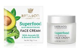 Rata and Co Superfood Skin Brightening Cleansing Face Cream with Avocado and Broccoli Seed Oil 1.75 oz
