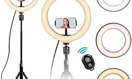 """10"""" Selfie Ring Light – LED Ring Light with Tripod Stand, Adjustable Phone Ring Light Compatible with iOS & Android Phones for Live Video, Makeup, Photography and Vlog Creation"""