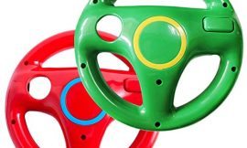 Wii steering wheel for Wii Mario Kart Racing Wheel for Nintendo Wii U Remote Controller (Red and Green )(2 pcs))