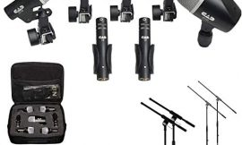 CAD Audio Stage7 Premium 7-Piece Drum Instrument Mic Pack with Vinyl Carrying Case + 2 Mic Stands & 2 Kick Stands + 7 XLR Mic Cables