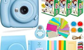 Fujifilm Instax Mini 11 Camera with Fuji Instant Film (60 Sheets) + DEALS NUMBER ONE Accessories Bundle Includes Case, Filters, Album, Lens, and More