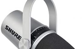 Shure MV7 USB Podcast Microphone for Podcasting, Recording, Live Streaming & Gaming, Built-In Headphone Output, All Metal USB/XLR Dynamic Mic, Voice-Isolating Technology, TeamSpeak Certified – Silver