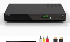 HD Blu-Ray Disc Player for TV with HDMI & AV Cables, Upscaling TV CD DVD Player 1080P, Built-in PAL NTSC, HDMI AV Coaxial Output USB Input (Black)