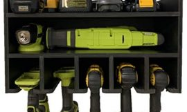 Power Tool Organizer, BEHR-ENGR Drill Organizer Cabinet Wall Rack, Charging Station, Garage Storage