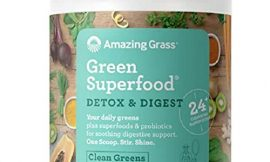 Amazing Grass Green Superfood Detox & Digest: Cleanse with Super Greens Powder, Digestive Enzymes & Probiotics, Clean Green, 30 Servings