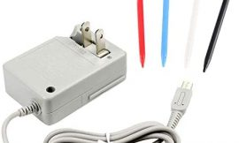 3DS XL Charger Kit, AC Power Adapter Charger and Stylus Pen for Nintendo 3DS XL, Wall Travel Charger Power Cord Charging Cable