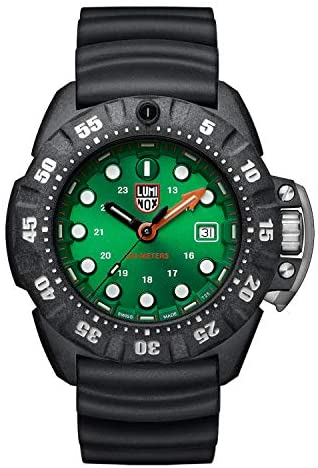 Luminox Men's Wrist Watch Scott Cassell Deep Dive 1550: 45mm Green Display Carbonox Case 300 M Water Resistant