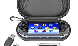 Skywin Kit for PS Vita – PS Vita Carry Case, Charging Cable, and Micro SD Memory Card Adapter Compatible with PS Vita 1000/2000 3.6 or HENkaku System