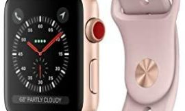 Apple Watch Series 3 (GPS + Cellular, 42MM) – Gold Aluminum Case with Pink Sand Sport Band (Renewed)