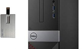 2020 Dell Vostro 3471 Small Desktop Computer, 9th Gen Intel Core i3-9100, 4GB RAM, 1TB HDD, Intel UHD Graphics 630, DVD-RW, Wired Keyboard and Mouse, HDMI, Windows 10 Pro, 32GB Snow Bell USB Card