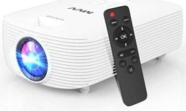 MVV Mini Projector [Latest] Compact Portable Projector for Outdoor Movies 5500 Lumens 1080P Supported, 200''Display Compatible with TV Stick HDMI USB VGA TF DVD for Home Entertainment