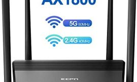 ECPN WiFi 6 Router AX1800 Smart Home WiFi Router, 5 Ghz Dual-Band Gigabit WiFi Router, Wireless Router with Mesh WiFi Support, OFDMA, MU-MIMO and Beamforming 802.11AX WiFi Router for Large Home