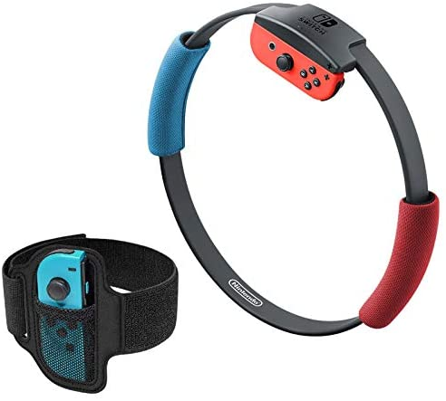 Adjustable Elastic Leg Fixing Strap and Ring-Con Non-Slip Grips Accessories Kits for Nintendo Switch Ring Fit Adventure Game (Only Straps, No Ring Con)