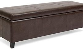 Best Choice Products 52in Faux Leather Upholstered Ottoman Coffee Table Bench Chest for Living Room, Bedroom, Entryway w/Wooden Frame, Espresso