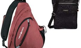 Sling Bag Backpack with RFID Security Pockets Rustic + Small Crossbody Backpack Black