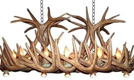 Reproduction Antler Whitetail Deer Arizona Dining/Pool Table Chandelier Light