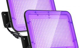 LaMuVii [2Pack] 60W LED UV Black Light, Blacklight Flood Light, IP66 Waterproof Outdoor Floodlight with Plug for Dance Party, Stage Lighting, Glow in The Dark, Neon Glow, Body Paint, Aquarium