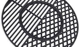 X Home 8835 Cast Iron Grill Grates for Weber 22.5 inch Charcoal Grills, Kettle, Performer, Gourmet BBQ System Sear Grate, 21.5″ x 21.5″
