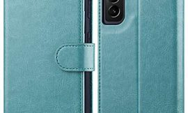 OCASE Compatible with Galaxy S21 5G Wallet Case, PU Leather Flip Folio Case with Card Holders RFID Blocking Kickstand [Shockproof TPU Inner Shell] Phone Cover 6.2 Inch (2021) – Mint Green