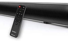 Wohome S09 Sound Bar for TVs,36-Inch 60W Home Theater TV Soundbar with Built-in Subwoofer, 4 Equalizer Modes, Bluetooth 5.0, Remote Control, 4 Speakers, Deep Bass, Optical AUX RCA USB Inputs