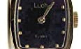 LUCH Women's Analog Square Black Face Dial Automatic Mechanical Wristwatch