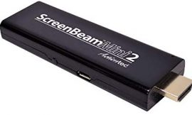 Actiontec ScreenBeam Mini2 Mobile Wireless Display Adapter with Miracast (SBWD60MBL01) – Mirror Phone Screen to HDTV, HDMI Connector, No Apps Required, Supports Select Microsoft & Android Devices