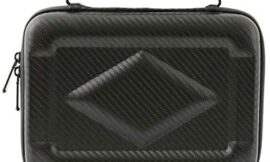 Gloriest Carrying Storage Case Portable Protection Hard EVA Case, Multifunctional Travel Digital Electronics Accessories Carry Bag Cable Organiser Small Travel Case Gadget Bag (Black)