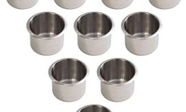 GSE Games & Sports Expert Stainless Steel Drop-in Drink Cup Holder for Casino Poker Table and Boats, RV Cars &Trucks (3