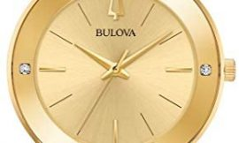 Men's Bulova Futuro Gold-Tone Diamond Accent Watch 97E100