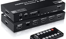 4K@60Hz HDMI Switch 4×1 with 7.1 Audio Extractor, avedio links 4 Port HDMI2.0b Switch Box with HDMI Atmos 7.1CH/ Optical 5.1CH/3.5mm Audio Out, HDMI2.0b Selector Switch with Remote