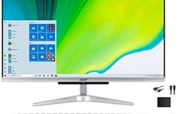 Newest ACER Aspire 23.8″ FHD Premium All-in-One Computer Bundle Woov Accessory   Intel Quad Core i3-1005G1   8GB RAM   512GB SSD   WiFi   HDMI   Wireless Keyboard and Mouse   Windows 10