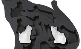 What On Earth Cat Ice Cube Tray – BPA-Free Silicone Kitty Shaped Mold for Candy Making or Gelatin Setting