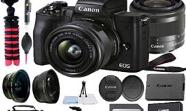 Canon EOS M50 Mark II Mirrorless Digital Camera 24.1MP Sensor with EF-M 15-45mm is STM Lens, SanDisk 128GB Memory Card, Gadget Bag, Tripod and A-Cell Accessory Bundle (Black)