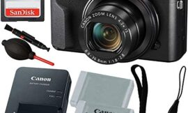 Canon PowerShot G7 X Mark II Digital Camera with Free Promotional – Includes: SanDisk 64GB SD Memory Card, Seller Supplied Replacement Lithium Ion Battery & More
