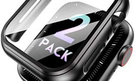 MARGE PLUS Case for Apple Watch 44mm 40mm Screen Protector, [2- Pack] Hard PC with TPE Film Shockproof Full Coverage Case Cover for iWatch Series 6/SE/5/4
