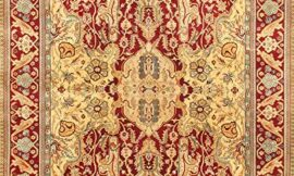 Pasargad Carpets Crown Jewel Agra Collection Hand Knotted Lamb's Wool Area Rug, 8′ x 10′