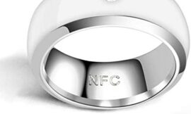 TYYW Smart Ring, NFC Smart Finger Ring Waterproof Wearable Connect Smart Ring Multifunctional Intelligent Technology Phone Equipment