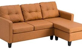 Couches for Living Room,Sofas for Living Room,Technology Cloth Combination Sofa Light Brown
