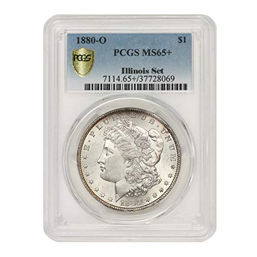 1880 O American Silver Morgan Dollar MS-65+ Illinois Set by CoinFolio $1 MS65+ PCGS