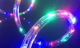 Asparkle UL Listed 18Ft 216 RGB LED Flexible Rope Lights Kit, Indoor/Outdoor Lighting, Home, Garden, Patio, Shop Windows, Christmas, New Year, Wedding, Birthday, Party, Event (RGB)
