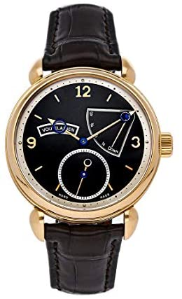 Voutilainen V-8R Mechanical (Hand-Winding) Black Dial Watch B.14.1001 (Pre-Owned)