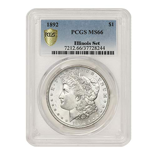 1892 American Silver Morgan Dollar MS-66 Illinois Set by CoinFolio $1 MS66 PCGS