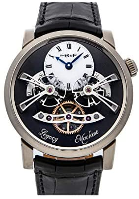 MB&F Legacy Machine Mechanical (Hand-Winding) Grey Dial Watch 02.WL.W (Pre-Owned)