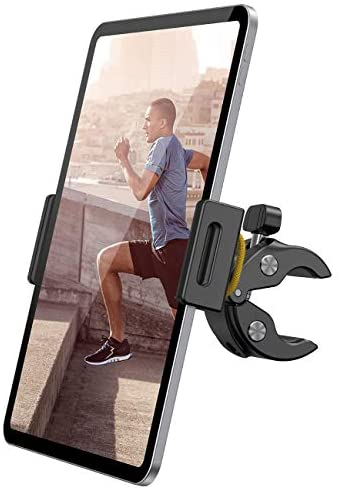 Lamicall Spinning Bike Tablet Holder Mount – Gym Treadmill Tablet Stand, Indoor Stationary Exercise Bicycle Tablet Clamp for iPad Pro 11 / Air / Mini, Galaxy Tabs, More 4.7-12.9″ Tablet and Cellphone
