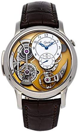 Romain Gauthier Logical One Manual Wind White, Gold Dial Watch MON00164 (Pre-Owned)